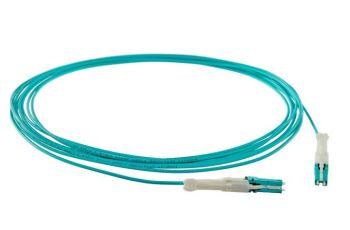 PANDUIT FZ2RLZNZNNNM004 optický propojovací kabel LC/CS -LC/CS duplex 2mm, MM 50/125um OM4, aqua, 4m