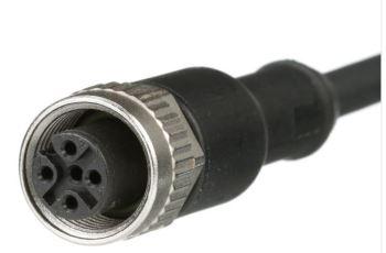 PANDUIT ICA5T13P2BL2M průmyslový propojovací kabel Industrial Net M12,male-female, A kód, 5-pin, UTP ,PUR, d=2m
