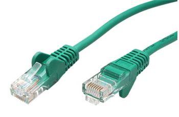 goobay 21.92.0583 propojovací kabel RJ45/RJ45, U/UTP,  0,25m, kat. 5E, CCA, zelená