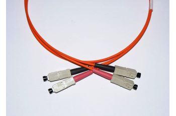 SC-SC-1-M6DL optický propojovací kabel SC-SC duplex MM 62,5/125um 1m