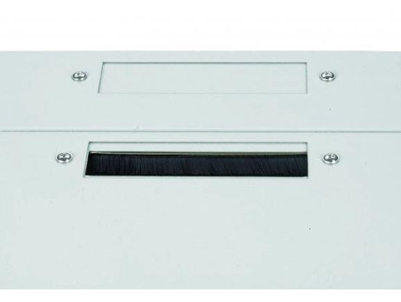 CONTEG DP-KP-KAR3-B kabelová průchodka s kartáčem pro nástěnné rozvaděče, šedá