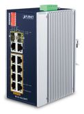 PLANET IFGS-1022HPT Switch, PoE 8x 100Base-TX, 2x SFP+2x TP 1000Base-X, 802.3at 240W, PoE ext,-40 až 75st.C
