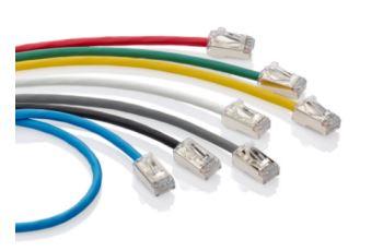 LEVITON 006-H6A10-20L propojovací kabel Extreme HIgh-Flex, tenký, RJ45/RJ45,Cat.6A, U/FTP, AWG28, 6,1m, modrý