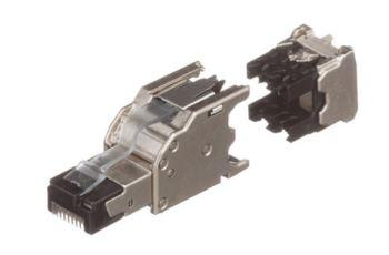 PANDUIT FPS6X88MTG stíněný konektor RJ45 UTP, Cat6A ,drát nebo licna, AWG 22-26, montáž jako Panduit TG modul
