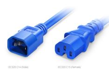 C14-C15-15A-B09 kabel k aktivním prvkům IEC320 C14  - C15 Power Cord, 14AWG, 250V/15A, 0,9m, modrý