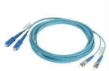PANDUIT FR2XSL-R2M02 optický propojovací kabel standard LC - reference grade ST, 2mm plášť, duplexní, OM3, 2m