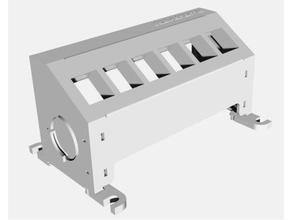STAKOHOME STAKOHOME-PATCH02-06 plastový patch panel, 6 pozic keystone, na DIN lištu, neosazený