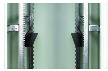 CONTEG DP-DU-700-H zátěžové podpěry, h. 642mm pro rozteč vertikálních lišt 696mm, černé