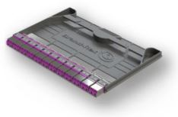 LEVITON HDXOCLCOM424 kazeta systému HI-DEX, 12x LC duplex spojka, OM4, šedá