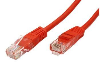 ROLINE UTP-1-RD propojovací kabel RJ45/RJ45, U/UTP,  1m, kat. 5E, červená