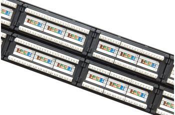 SOLARIX SX48-5E-UTP-BK patch panel UTP 48xRJ45 kat. 5E, 2U, 19