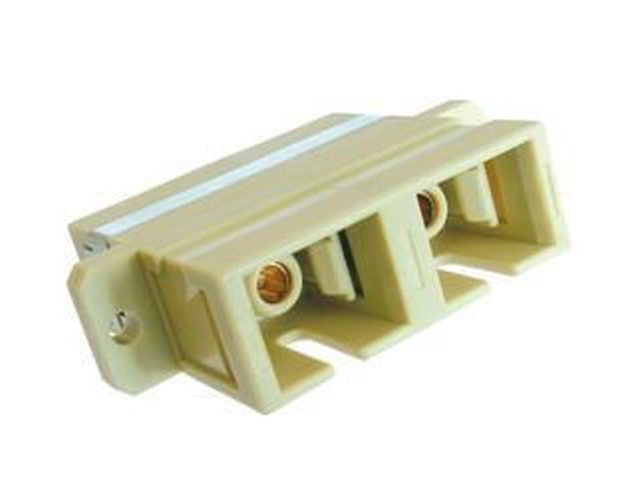 SP-SC-02 optická spojka SC, duplex, MM, béžová