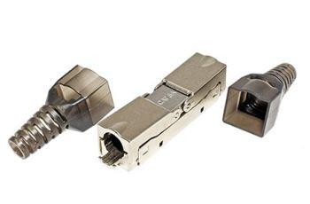 VALUE 26.99.0380 beznástrojová  spojka pro kabely kat. 6A STP, stříbrná, pro drát i licnu AWG 26-23