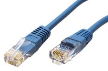 ROLINE UTP-0,5-BU propojovací kabel RJ45/RJ45, U/UTP,  0,5m, kat. 5E, modrá