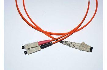 LC-SC-1-M6DL optický propojovací kabel LC-SC duplex MM 62,5/125um 1m