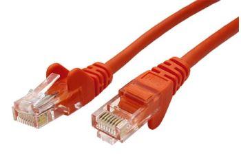 goobay 21.92.0447 propojovací kabel RJ45/RJ45, U/UTP,  20m, kat. 5E, CCA, oranžová