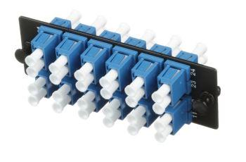 PANDUIT FAP12WBUDLCZ osazený FAP panel, 12x LC duplexní spojka, SM, modrá