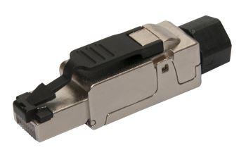 SOLARIX SXRJ45-5E-STP-BK-SA konektor RJ45 pro vodiče AWG 26 - 23, kat. 5E, STP