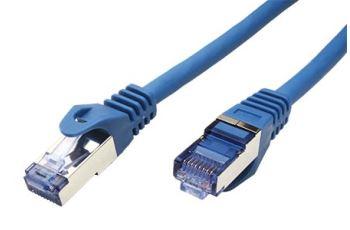 ROLINE SFTP6A-0,3-BU propojovací kabel RJ45/RJ45, S/FTP,  0,3m, kat. 6A, LSOH, modrý