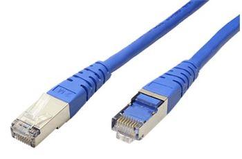 ROLINE SFTP6-10-BU propojovací kabel RJ45/RJ45, S/FTP,  10m, kat. 6, modrý