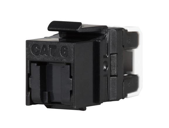 SOLARIX SXKJ-6-UTP-BK-NA modul Keystone RJ45, kat. 6, UTP, rychlozařezávací, černý
