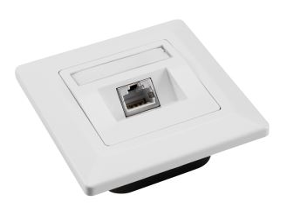 SOLARIX SX9-1-6-STP-WH zásuvka pod omítku 1xRJ45, STP, kat. 6, bílá