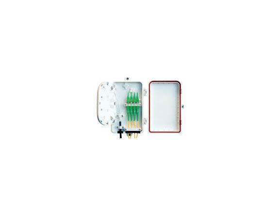 W37XXX00 optický rozvaděč pro 4 simplexní SC/LC/E2 spojky, 8 svárů, plast, bílý, IP65