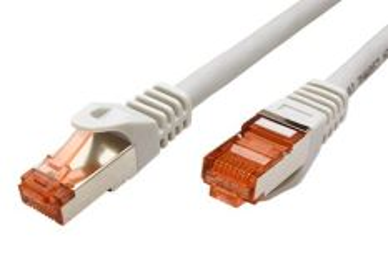 ROLINE 21.15.2600 propojovací kabel RJ45/RJ45, S/FTP, 0,5m, kat. 6, LSOH, šedý