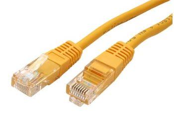 ROLINE UTP-0,5-YL propojovací kabel RJ45/RJ45, U/UTP, 0,5m, kat. 5E, žlutý