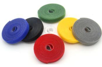 SZ01-12,5MM-25M-BL oboustranný suchý zip, šířka 12,5mm, délka 25m, černý