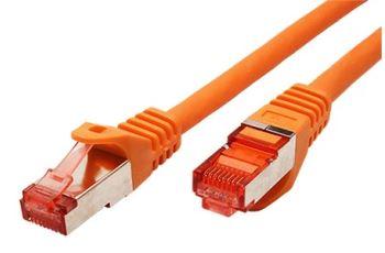 ROLINE SFTP6-1,5-OR propojovací kabel RJ45/RJ45, S/FTP,  1,5m, kat. 6, oranžový