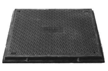 HIDROSTANK VB125-HT-58x58K kompozitní víko B125 (12,5t) kabelové komory, 580x580mm a 680x680mm, fixace šroubem
