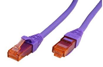 ROLINE UTP6-2-VL propojovací kabel RJ45/RJ45, U/UTP, 2m, kat. 6, LSZH, fialový