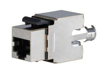 SOLARIX SXKJ-5E-STP-BK modul Keystone, RJ45, kat. 5E, STP, 110/Krone, stříbrný