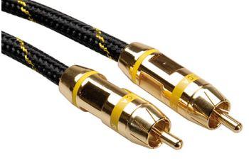 ROLINE 11.09.4253 Gold kabel cinch(M) - cinch(M), žluté konektory, 5m