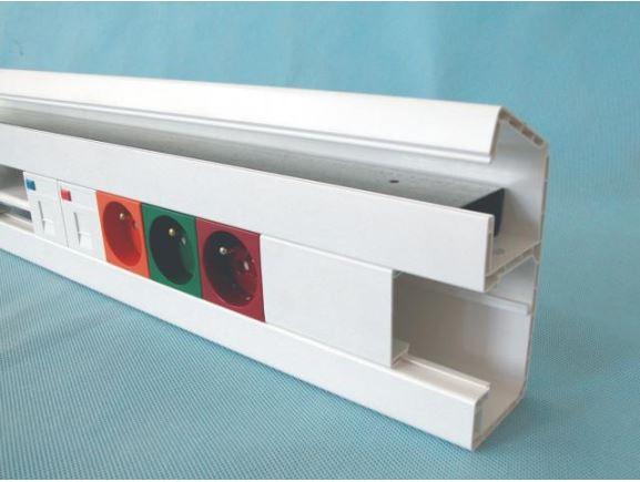 KOPOS PK 120X55 D_HD parapetní kanál 120x55mm s víkem, bílý, kus=2m