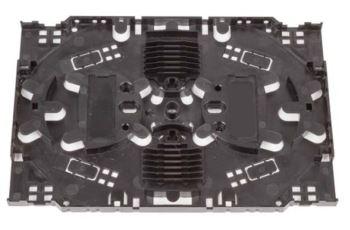 KFM-24 kazeta na sváry, 170x116x8mm, držáky pro 24 smršťovacích ochran, černá, bez víčka